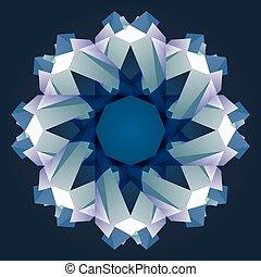 Christmas circle crystal ornament