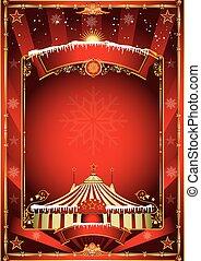 Christmas circus background