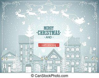 Christmas city landscape
