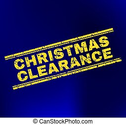 CHRISTMAS CLEARANCE Scratched Stamp Seal on Gradient Background