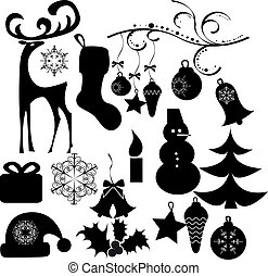 Christmas clip art object collection