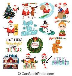 Christmas clip arts Illustration