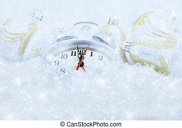 Christmas clock five minutes left - Christmas clock alarm...