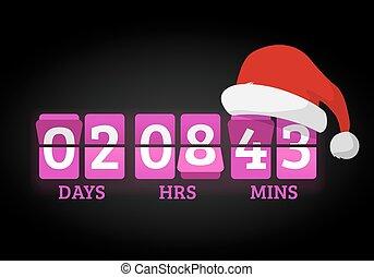 Christmas clock timer digits board panels