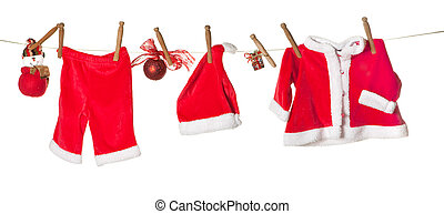 Christmas clothes line
