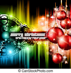 Christmas Club Party Background - Ideal for holiday...