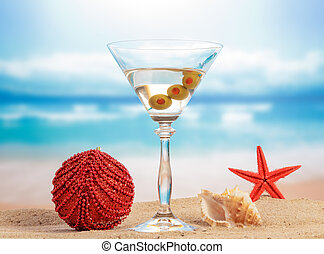 Christmas Cocktail with ball decoration