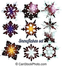 Christmas collection of vector filigree snowflakes for Christmas design