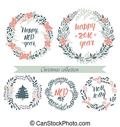 Christmas collection wreaths