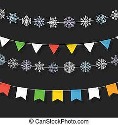 Christmas color garland collection