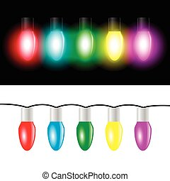Christmas color light bulbs
