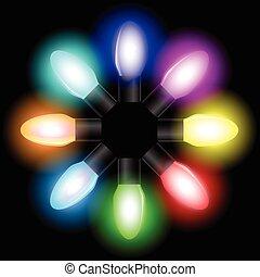 Christmas color light bulbs