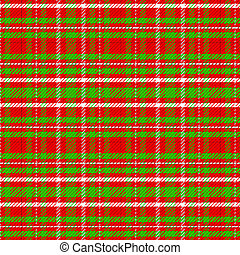 Christmas Color Red Green White Plaid Background Illustration