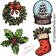 Christmas Color Sketch Set