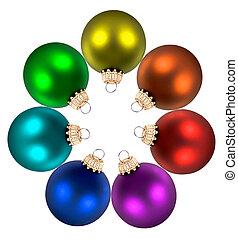 color wheel decorations - Christmas color wheel decorations...