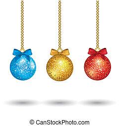 christmas colorful balls