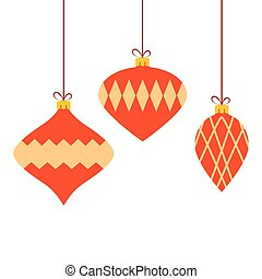Christmas colorful baubles background. Vector illustration