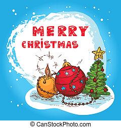 christmas colorful card