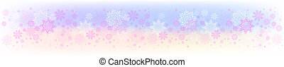 Christmas colorful design with a set of graceful snowflakes.