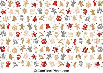 christmas colorful pattern decoration elements background