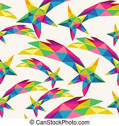 Christmas colorful stars seamless pattern