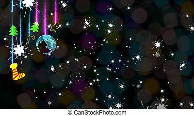 Christmas colorful theme world wth sock stars trees sweet stick  party long branch snowflake rainbow blur light