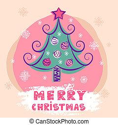 christmas colorful vector tree