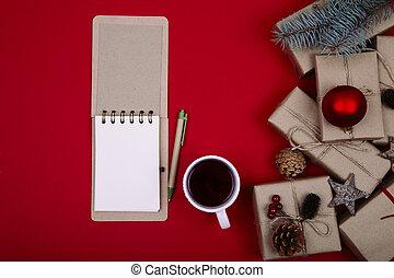 Christmas composition. Christmas gift.