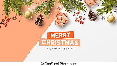 Christmas Composition Festive Background
