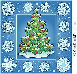 Christmas composition greeting card 1