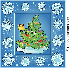 Christmas composition greeting card 9