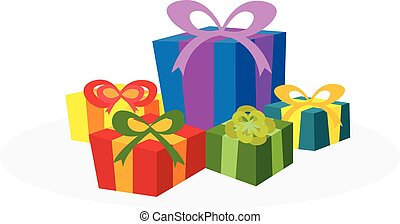 Christmas concept by have many gift box