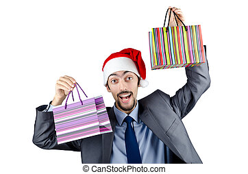 Christmas concept with shopping bag