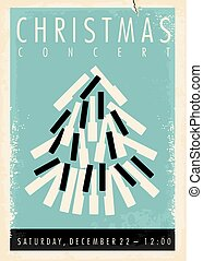 Christmas concert retro poster design idea