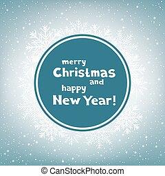 Christmas congratulation circle snow
