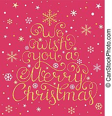 Christmas congratulation on white background