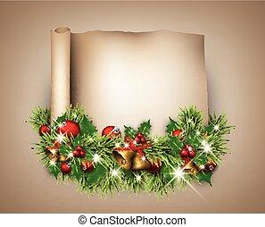 Christmas congratulatory background.