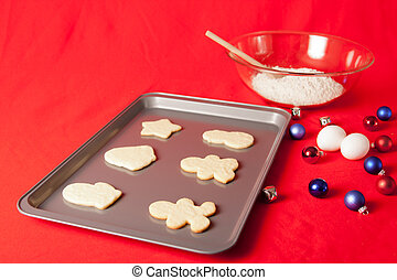 Christmas Cookie Baking on Red