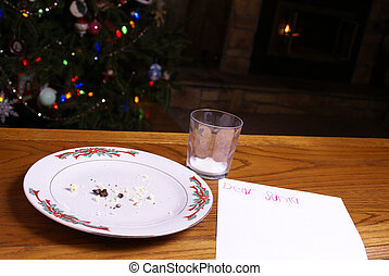 Christmas Cookie Crumbs by Note From Santa Tree and Fireplace