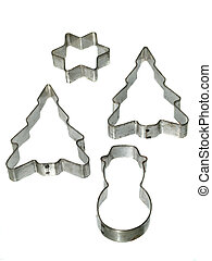 Christmas cookie cutters - Still life of christmas theme...
