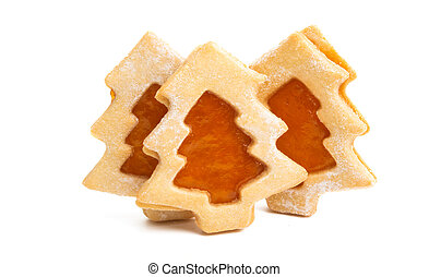 christmas cookie tree isolated