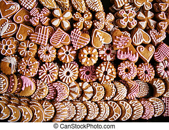 A lot of christmas cookies