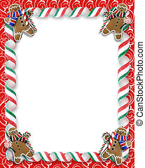 Image and illustration composition for Christmas Holiday background, border or photo frame with copy space
