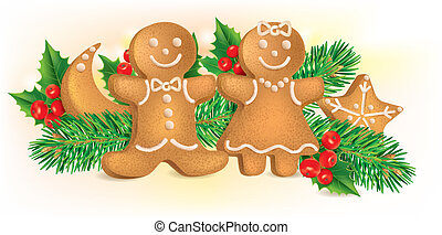 Christmas cookies. Contains transparent objects. EPS10...