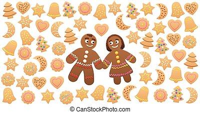 Christmas Cookies Gingerbread Man Woman Love