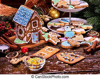 Christmas cookies house