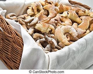 Christmas cookies in the basket