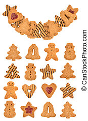 Christmas cookies isolated Sweet food background
