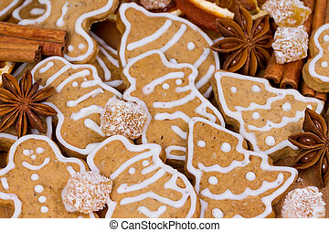 Christmas cookies of different shapes