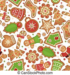 Christmas cookies pattern - Christmas cookies background....
